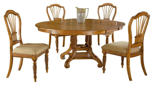 Round Oval Dining Table Farmhouse Dining Tables by ShopLadder