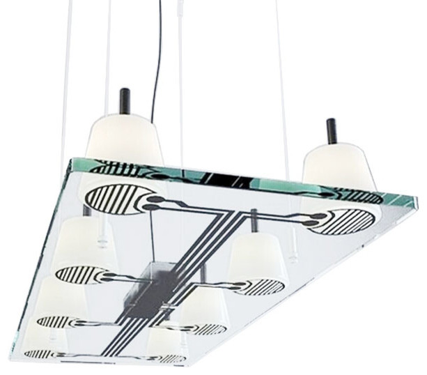 Modern Bois Glass Board Halogen Chandelier Modern Pendant Lighting New Orleans By Phx
