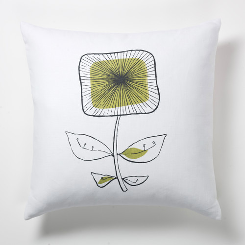 Modern Square Pillow Pull : Square Flower Pillow - Modern - Scatter Cushions