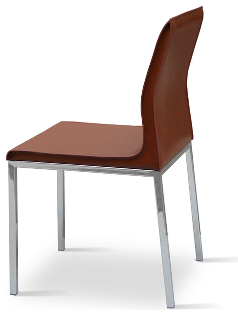 Polo chrome dining chair by sohoconcept contemporary for Modern chrome dining chairs
