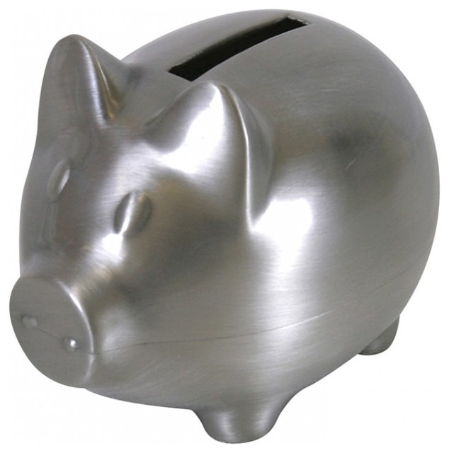 Pewter piggy bank modern piggy banks by stephan baby - Coink piggy bank ...