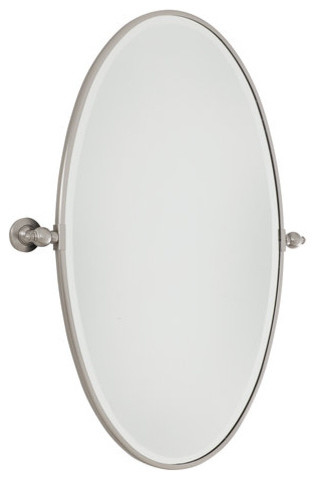 Minka Lavery 1432 267 Extra Large Oval Pivoting Bathroom Mirror Traditional Mirrors