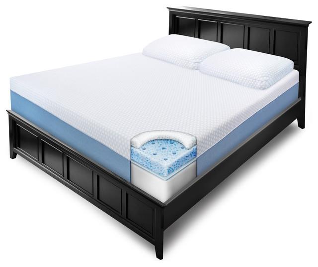 swisslux 10 inch queen size gel memory foam mattress contemporary mattresses by. Black Bedroom Furniture Sets. Home Design Ideas
