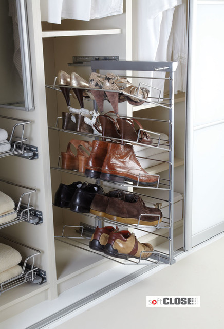 Five Tier Pull out Shoe Rack - Soft Close - Modern - Shoe Storage - south east - by Buller Ltd