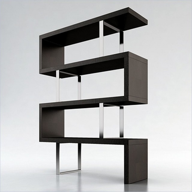 Modloft pearl modular wood bookcase in wenge modern bookcases