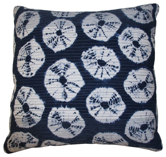 Decorative Pillows Indigo : Japan Rings Indigo Pillow - Contemporary - Decorative Pillows - by Jiti