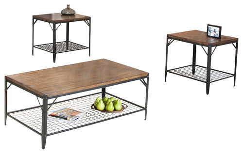 Sunset Trading Industry Standard 3 Piece Coffee Table Set More Info