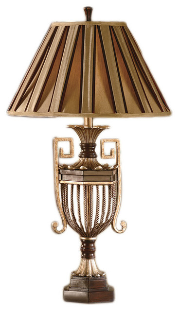Fairfax Table Lamp 34 Inches Tall 13 Inch Diameter Pleated Shade Table Lamps By Zeckos