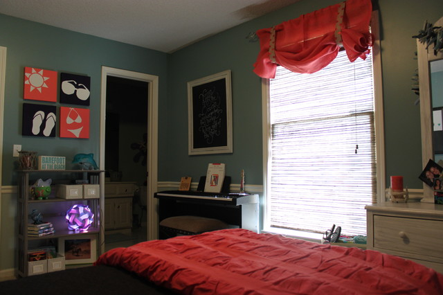 11 year old girls bedroom project custom valance and all wall art beach style kansas city - Years old girl bedroom ...