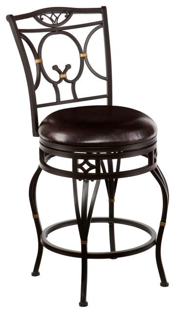 Wayfield swivel counter stool traditional bar stools - Traditional kitchen bar stools ...