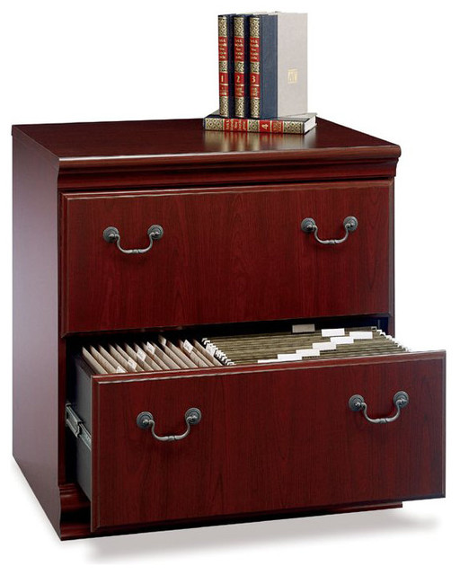 Bush Birmingham Executive 2-Drawer Lateral Wood File Cabinet in Harvest Cherry - Transitional ...