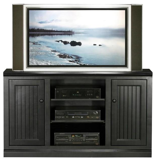 Coastal Thin-Screen Entertainment Console in Antique Black (Iron Ore ...
