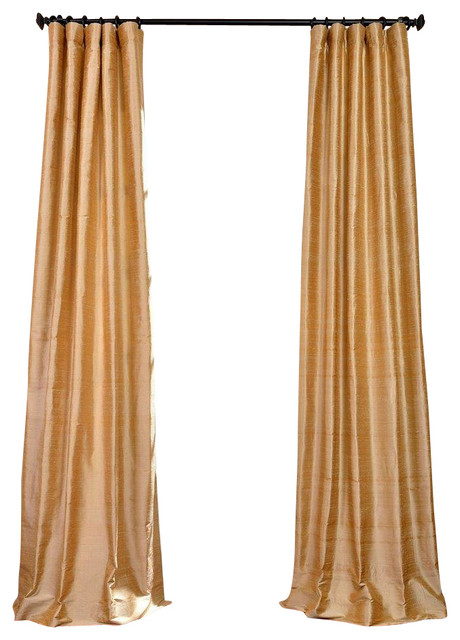 biscotti textured dupioni silk curtain single panel 50