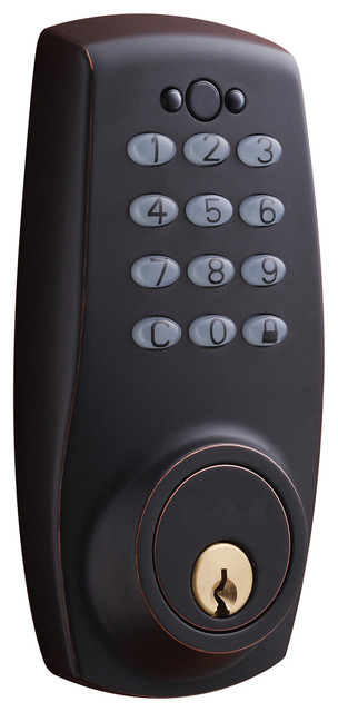 sure loc electronic keypad deadbolt lock contemporary door locks by. Black Bedroom Furniture Sets. Home Design Ideas