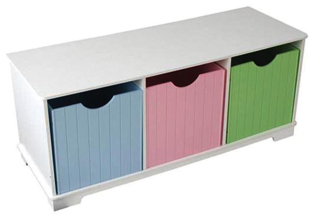 Kids Storage Bench Furniture Toy Box Bedroom Playroom: Kidkraft Kids Room Gift Doll Organizer Nantucket Play Toy