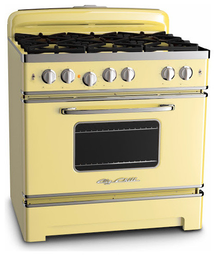 big chill 36 retro stove buttercup yellow gas ranges