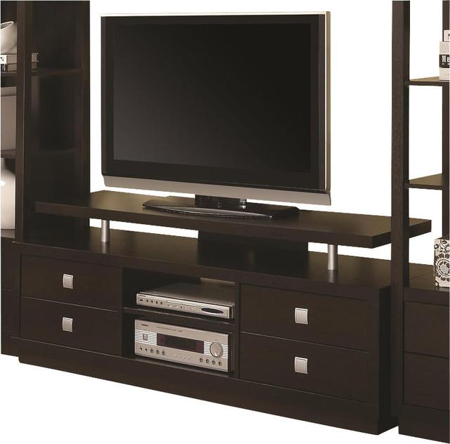 Coaster Wall Units Casual Tv Console In Cappuccino