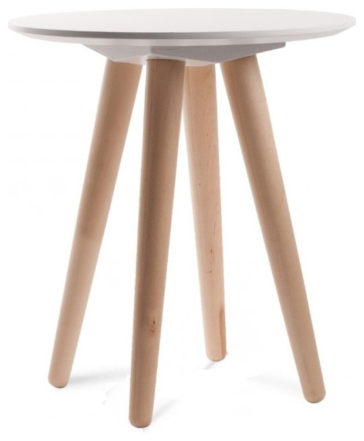 Table basse en bois massif scandinave bee small couleur for Petite table basse scandinave