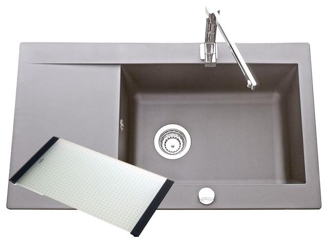 sili vier grand bac avec 1 gouttoir gris moderne vier de cuisine par alin a mobilier d co. Black Bedroom Furniture Sets. Home Design Ideas