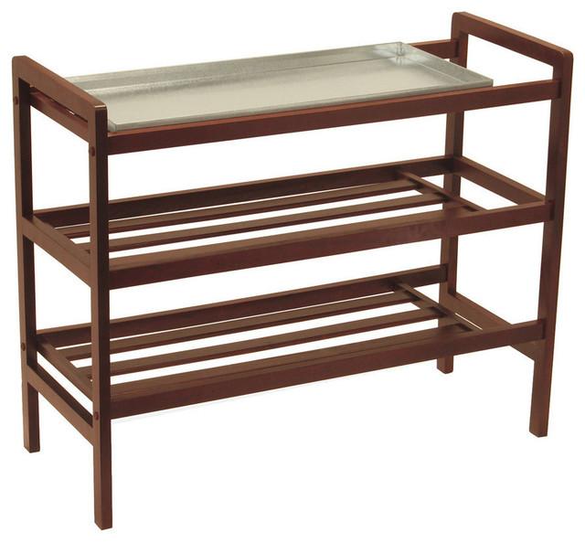 Winsome Winsome Wood Mudroom Shoe Rack W Tray Shelf Shoe Storage