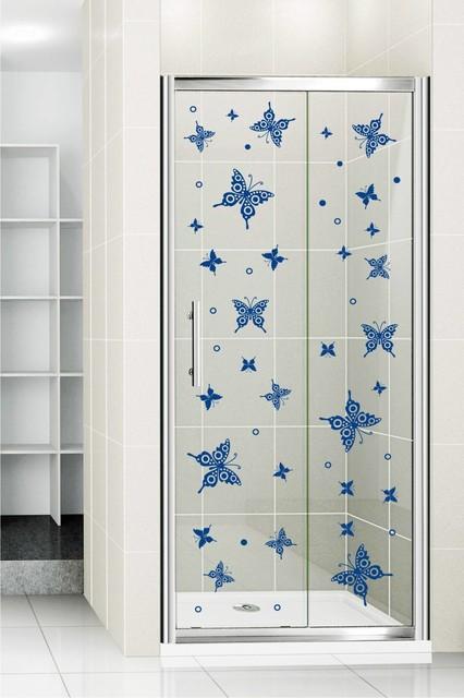 Shower Door Vinyl Decal 35 Eclectic Wall Decals By
