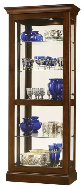 Howard Miller Berends 4 Curio Cabinet - Traditional - China Cabinets And Hutches - by DesignerCurios