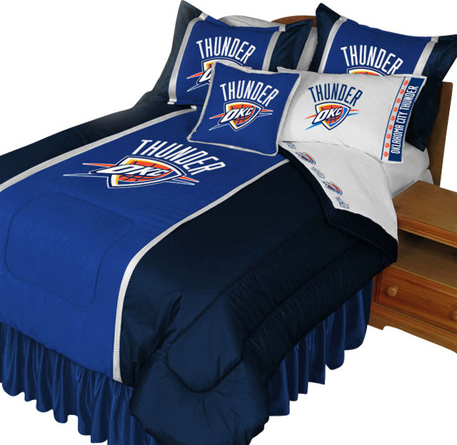 Nba oklahoma city thunder comforter set basketball bedding - Linge de lit contemporain ...