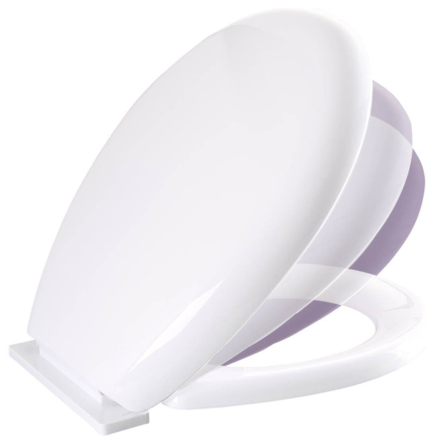 Lumawarm Heated Nightlight Round Closed Front Toilet Seat In White