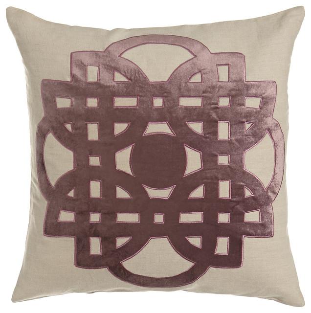Mavis Tile Applique Pillow - Traditional - Decorative Pillows - dallas - by Horchow
