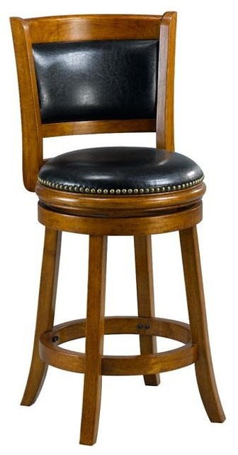Alexis Dark Oak Padded Back 24 Inch Counter Stool
