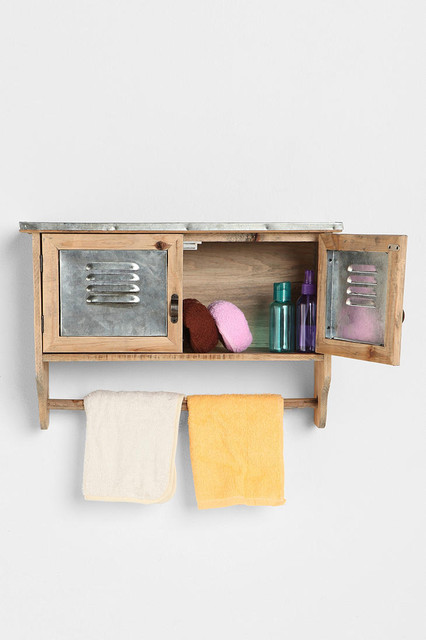 Lakeside Reclaimed Wood Towel Shelf Modern Bathroom Cabinets And Shelves By Urban Outfitters
