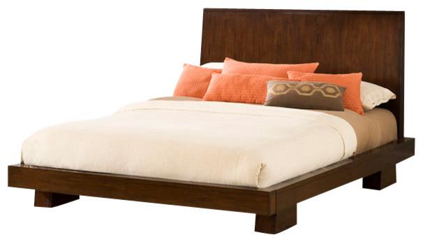 hiro platform bed with nightstand 3 piece bedroom set queen asian bedroom furniture sets. Black Bedroom Furniture Sets. Home Design Ideas