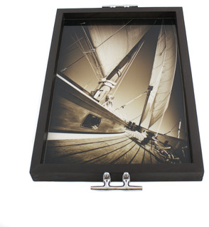 Sailboat Tray/Wall Art with Cleat Handles - Beach Style - Home Decor ...
