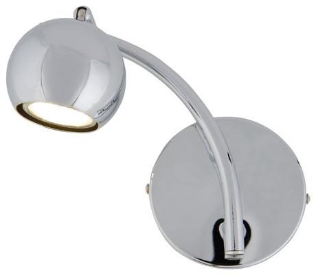 Bowled Over Chrome Led One Light Bath Fixture Contemporary Bathroom Vanity Lighting