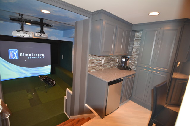 golf simulator golf room basement golf modern home design pictures