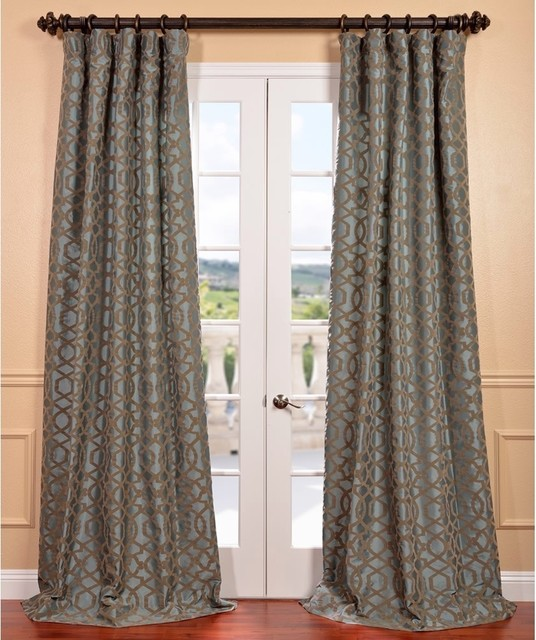 ... Faux Silk Curtain Panel - Contemporary - Curtains - by Overstock.com