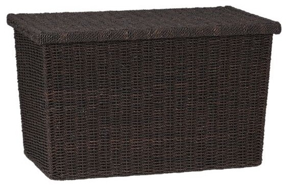 Abaca Large Trunk Contemporary Storage Bins And Boxes