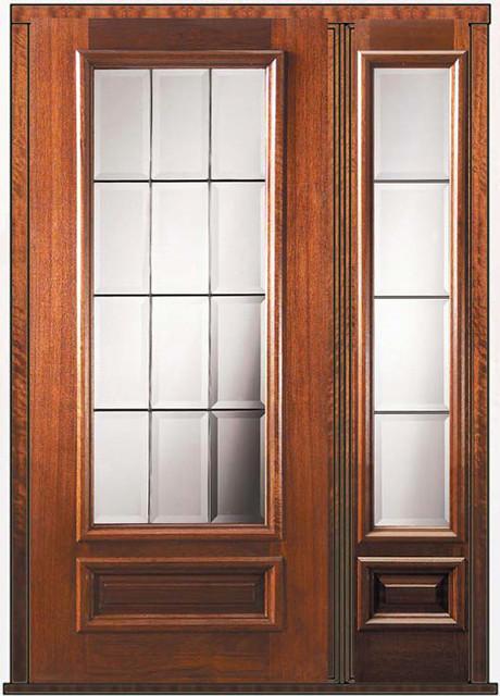 Prehung patio sidelite door 80 wood mahogany patio 3 4 for Prehung patio doors
