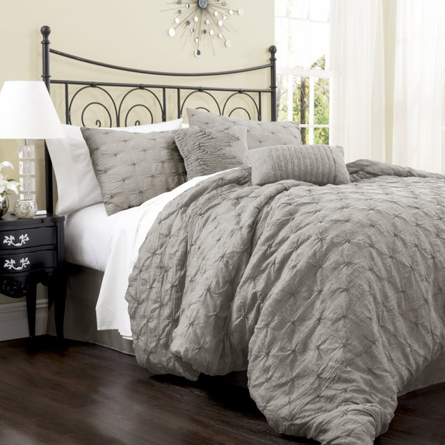 piece comforter set gray contemporary comforters and comforter sets