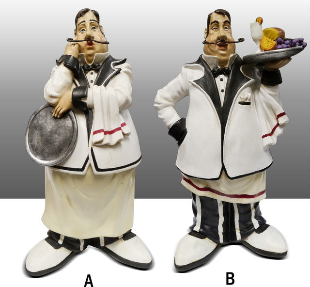 Chef Kitchen Figure Table Art Decor Traditional Home