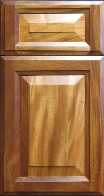 african mahogany raised panel cabinet door traditional