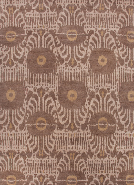 ... Geometric Pattern Wool Knotted Rug (8 x 10) - Contemporary - Rugs