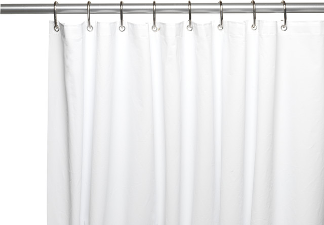 Extra Long Clean Home Liner In White Traditional Shower Curtains By Carnation Home Fashions