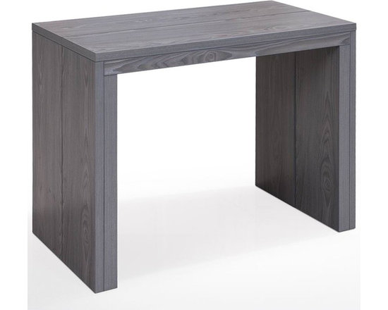 Inside 75 console extensible illusion bois gris gain - Table a manger console ...