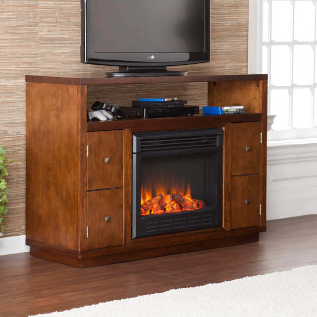 upton home hepburn brown media console stand electric