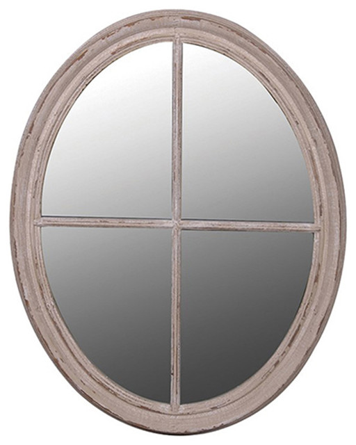 Large oval taupe mirror contemporary wall mirrors for Large contemporary mirrors