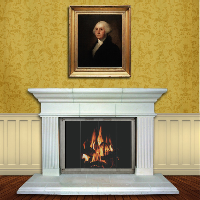 Washington Pre Cast Stone Fireplace Mantel Traditional Fireplace Mantels By Fireplace