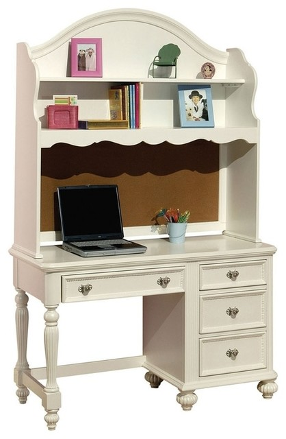 White Kid puter Desk and Hutch Traditional Kids