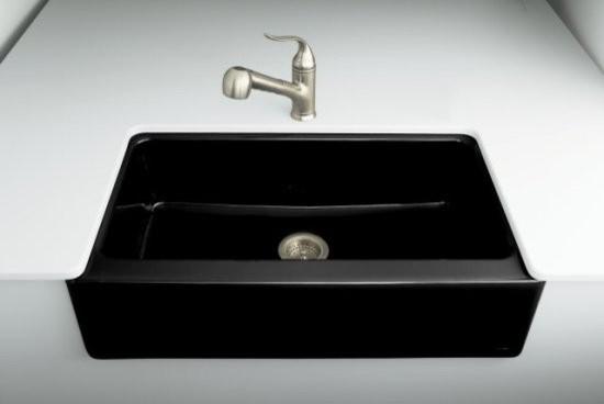 Kohler k 6546 4u 7 dickinson apron front undercounter kitchen sink with four ho traditional - Kohler dickinson apron front sink ...