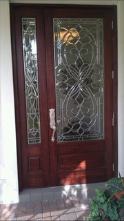 Custom Doors H Series Beveled Glass Door Eclectic